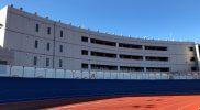 総合運動場選手宿泊棟外観(内側)