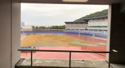 総合運動場選手宿泊棟宿泊室からの眺め