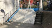 総合運動場スケートボード場フラットバンク