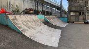 総合運動場スケートボード場クォーターパイプ
